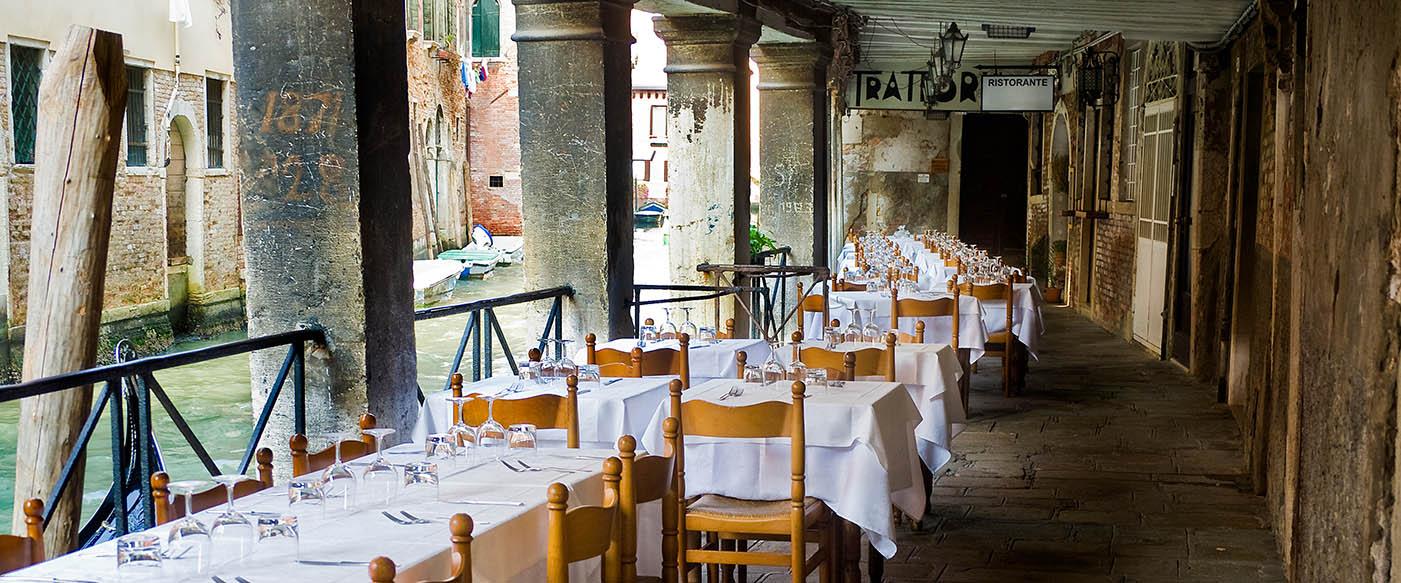 Tucked away restaurant in Venice