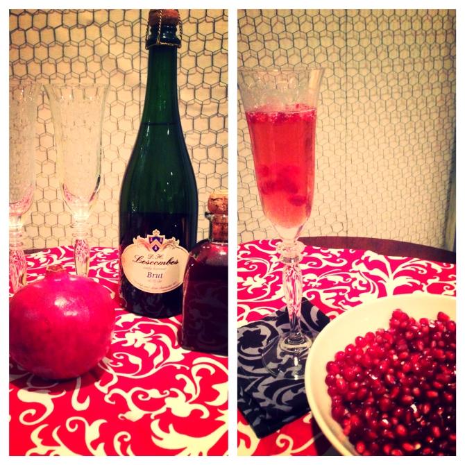 Pomegranate Valentines cocktail love