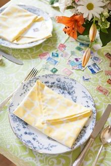 simple cotton dinner napkin fold