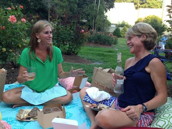 friends picnic in park