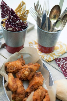 chicken wings cotton cocktail napkins