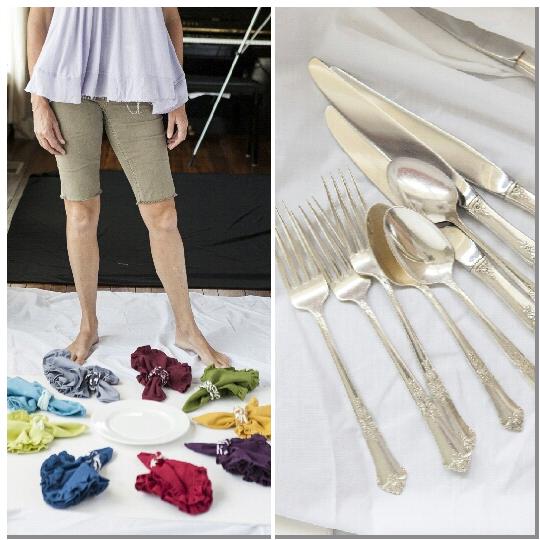 ruffle colorful napkins