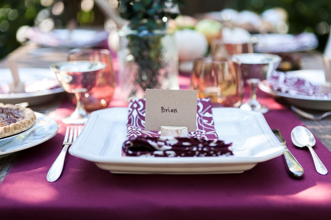 rustic place cards cotton table linens