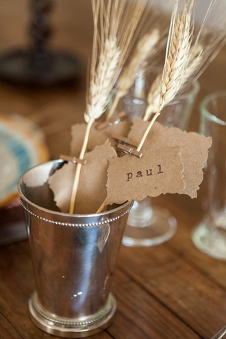 simple place cards for the table