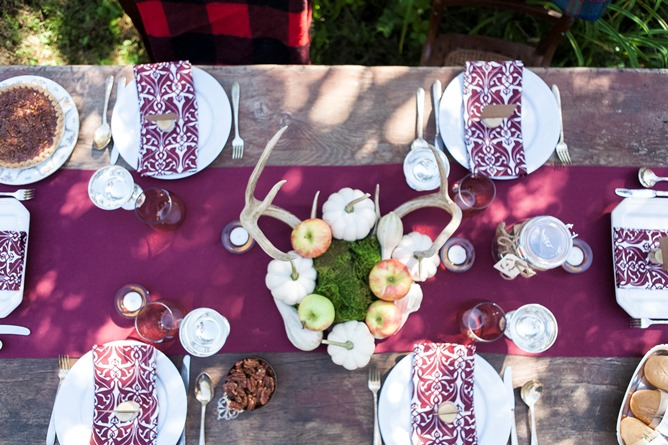 table linens for entertaining