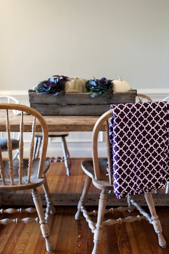 white and purple cotton cloth linens for the table
