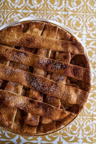 Homemade apple pie for Thanksgiving