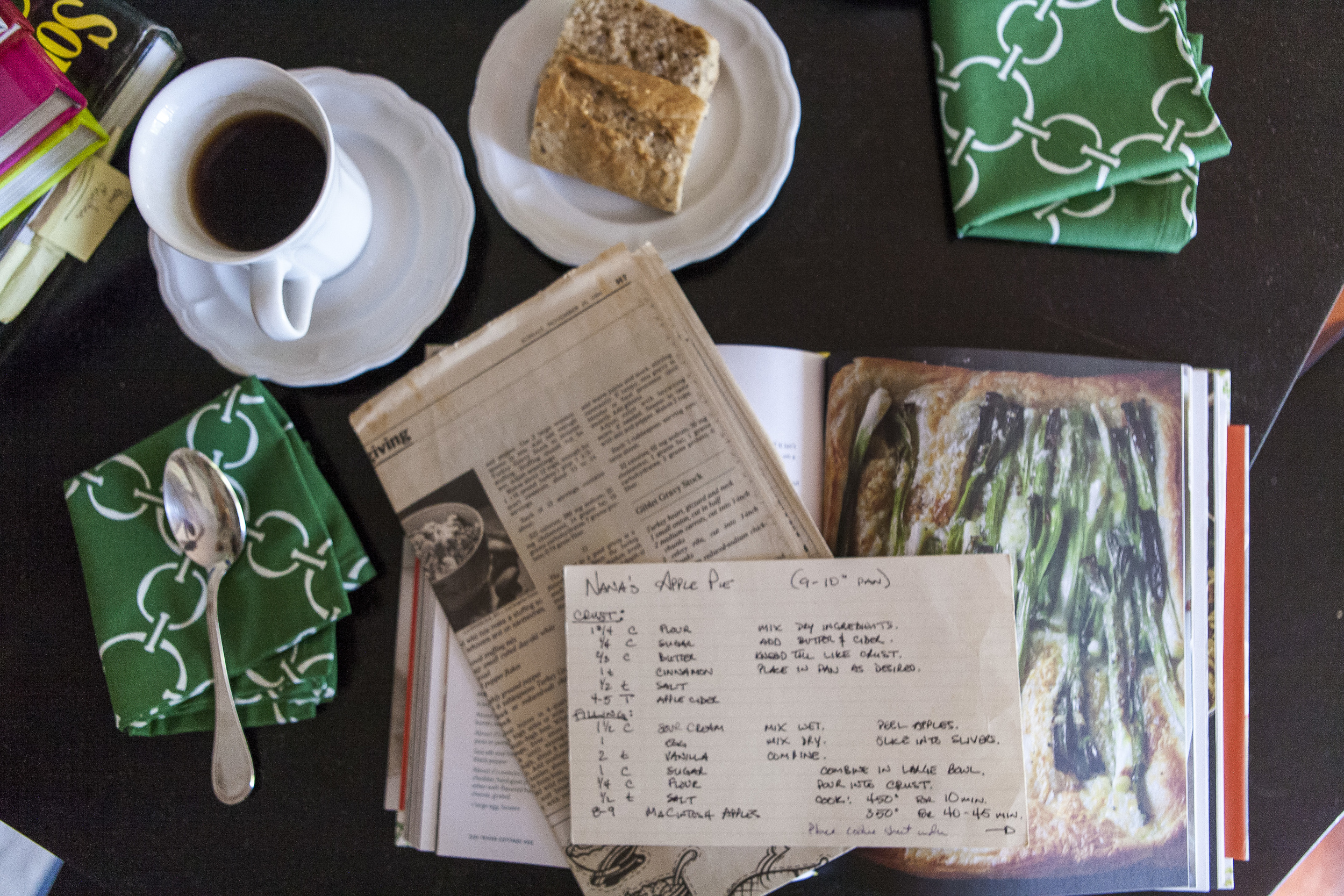 Planning recipes for Thanksgiving