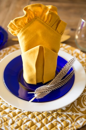 tablesetting for Thanksgiving