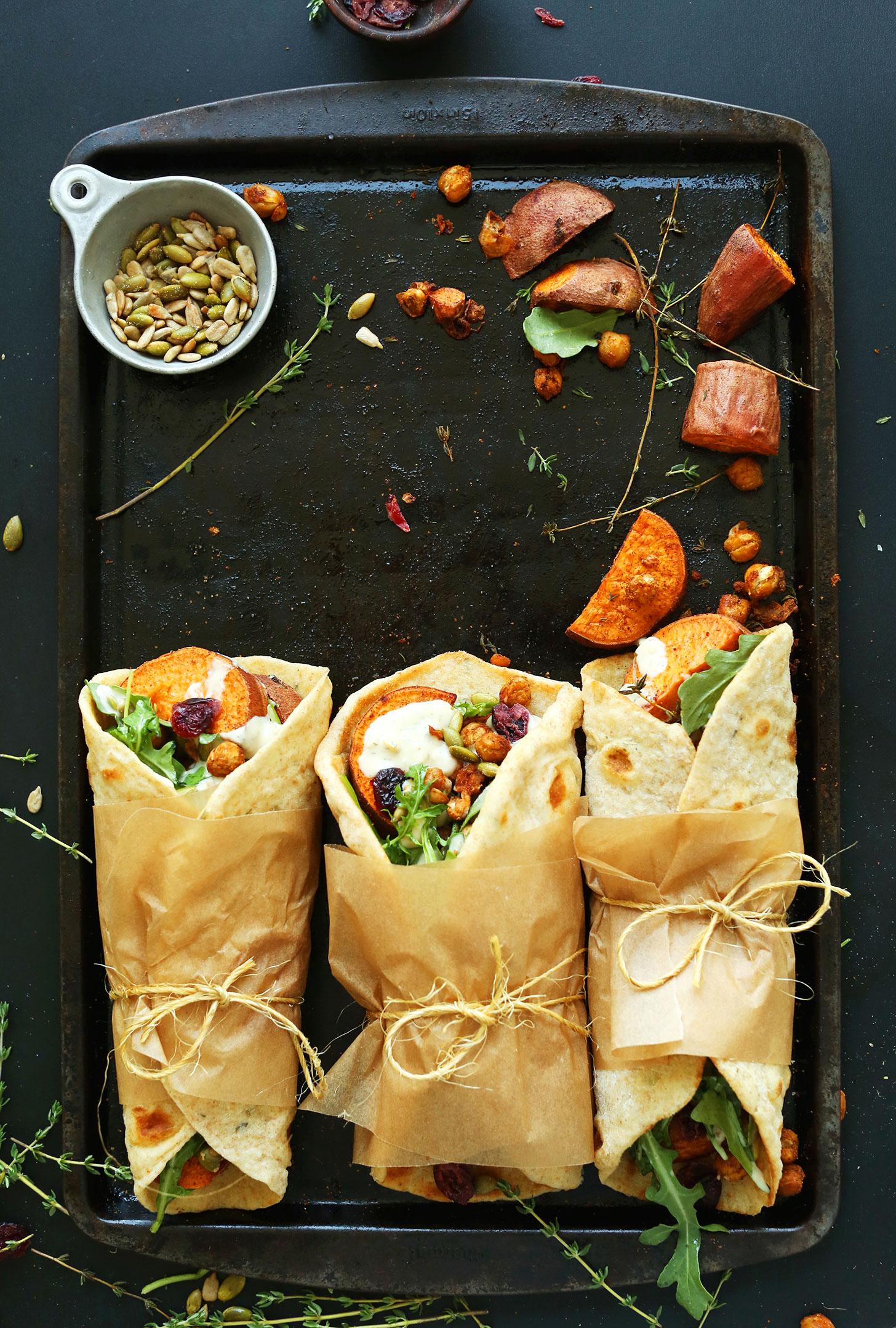 Vegan Thanksgiving Wraps by The Minimalist Baker