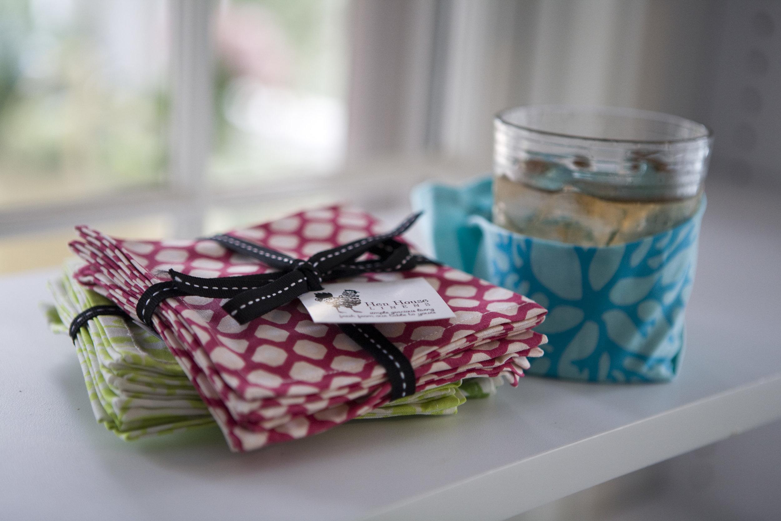 cotton cloth cocktail napkin stylish koozie