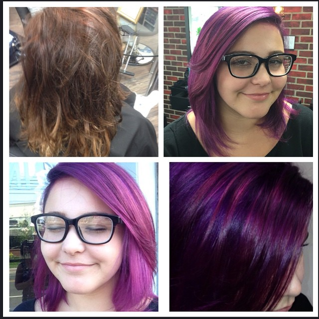 Before and after of a beautiful Violet transformation by Karen