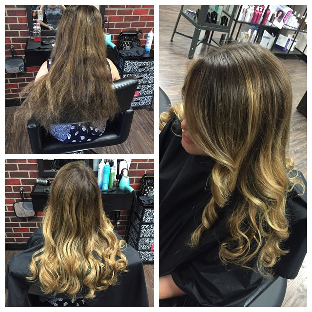 Before and After Balayage by Karen