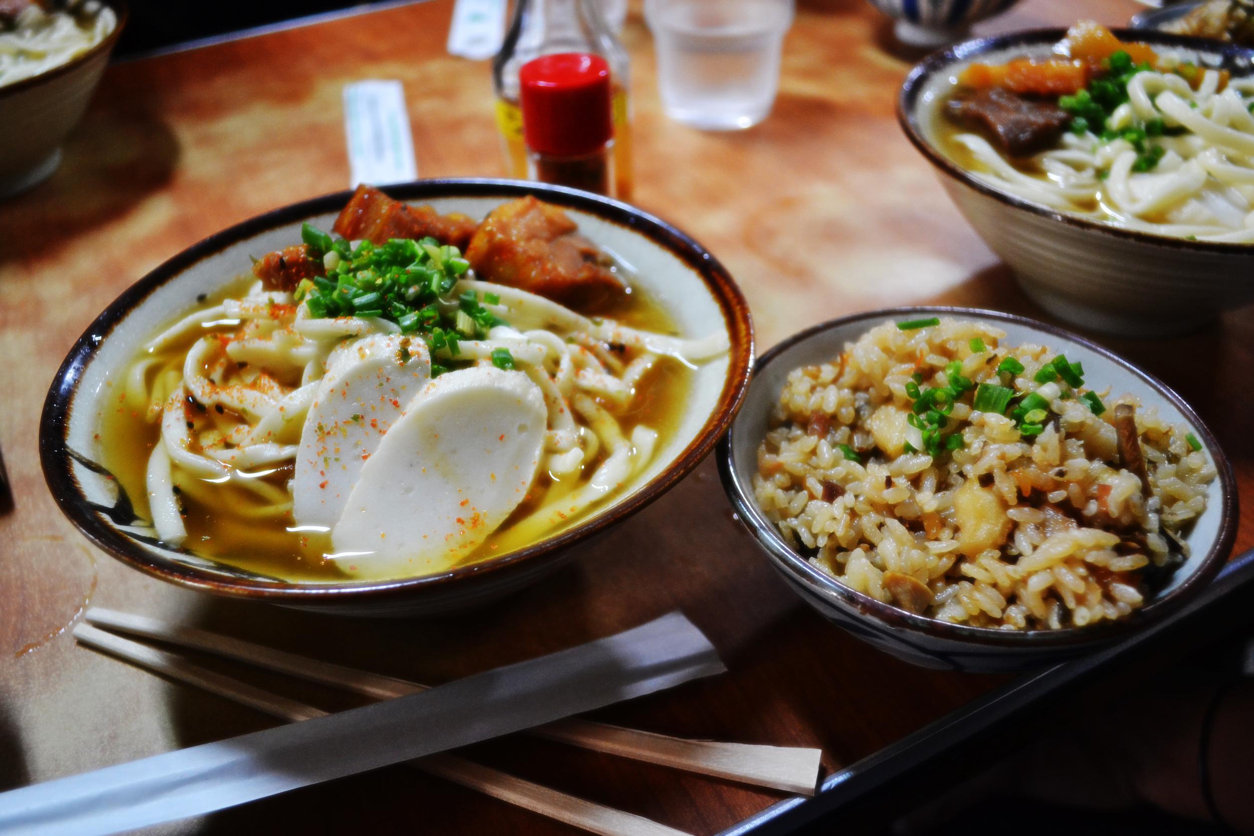 Okinawa Soba en Kishimoto Shokudou, Motobu.