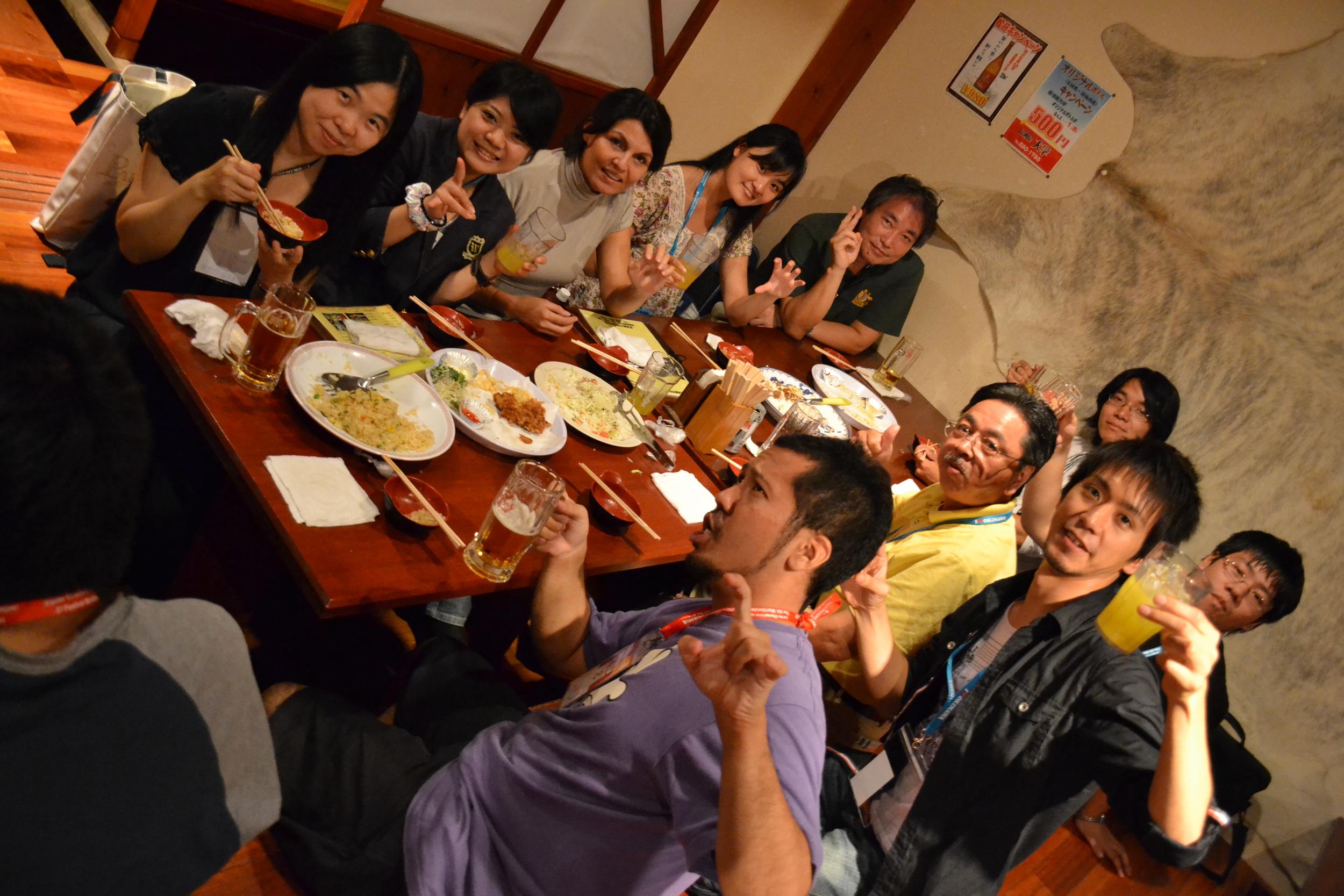 En los famosos 'Izakaya'.