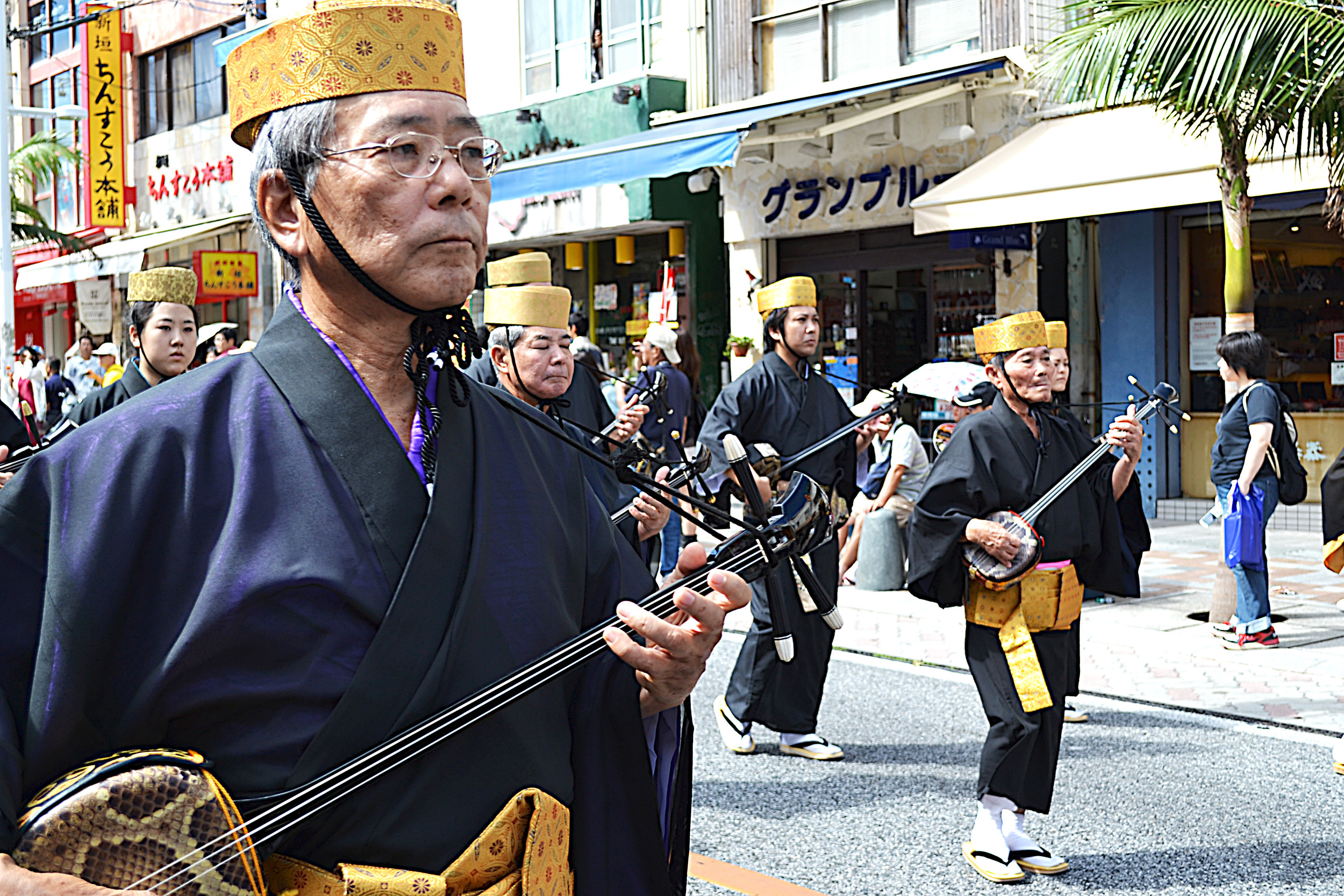 Sanshin, el instrumento tradicional de Okinawa.