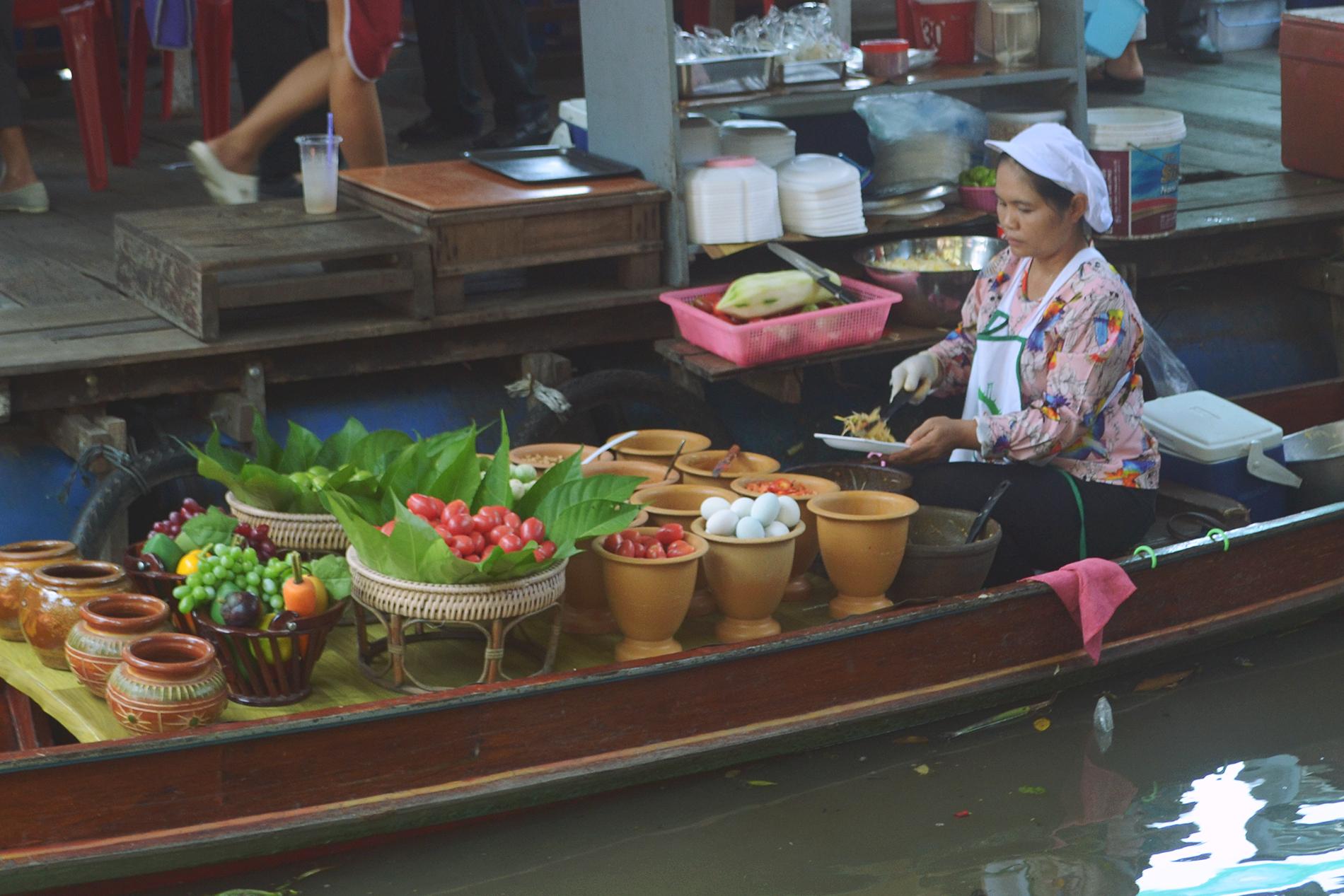 Los mercados flotantes de Bangkok.