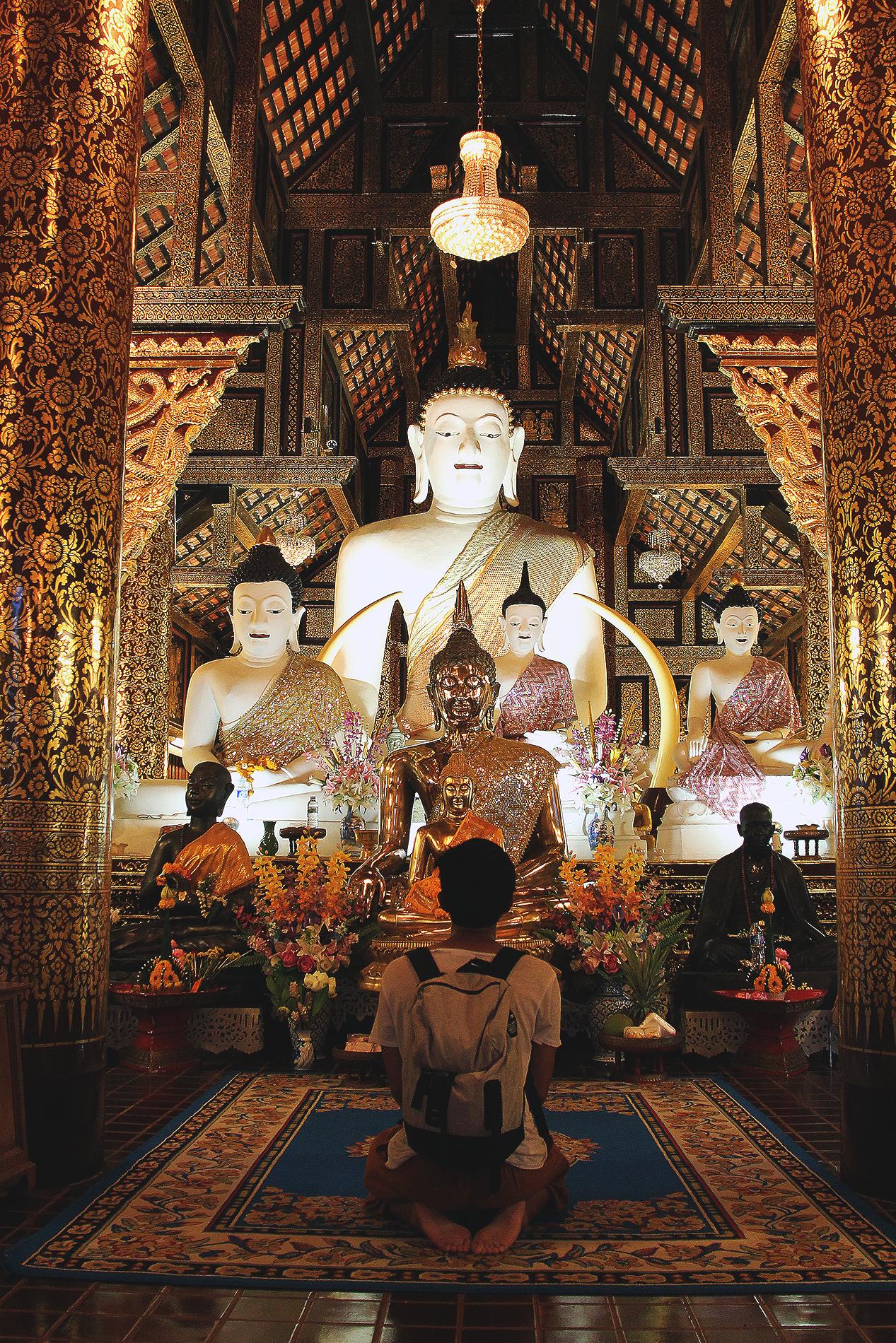Uno de los cientos de templos en Chiang Mai.