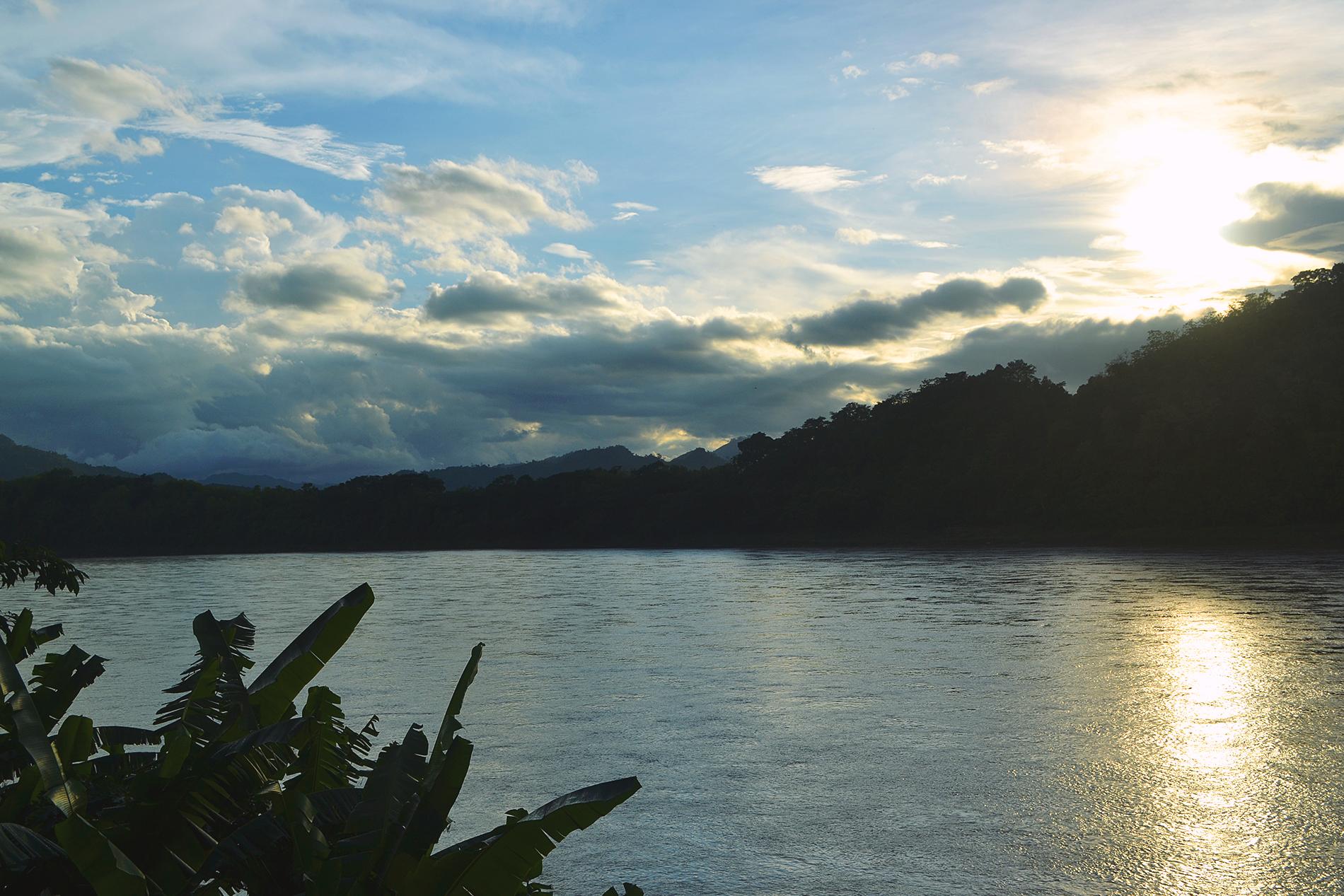 Sunset en el Mekong.