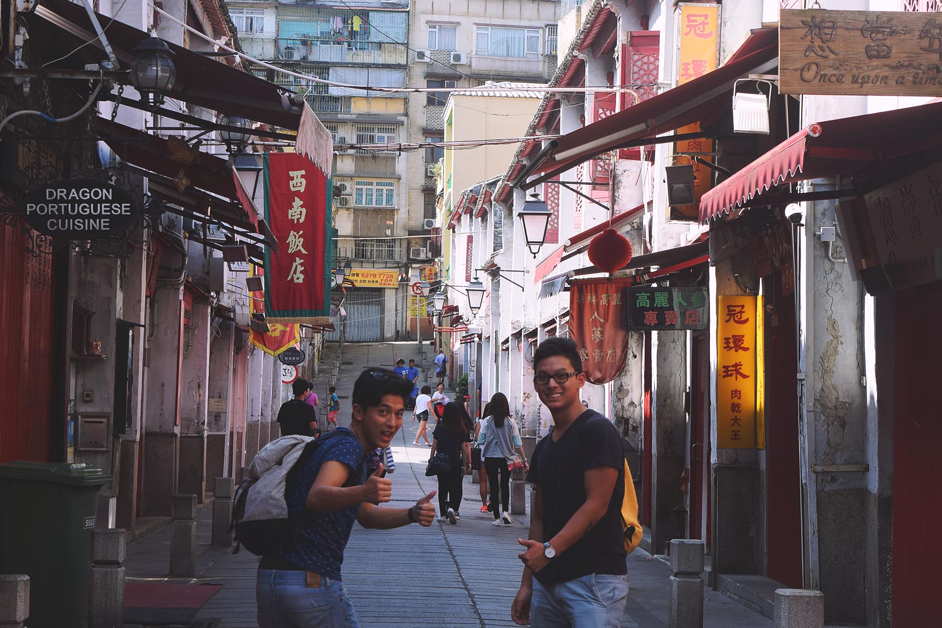 """Ubicada en """"Rua da Felicidade"""", antigua """"Zona Roja"""" de Macao."""