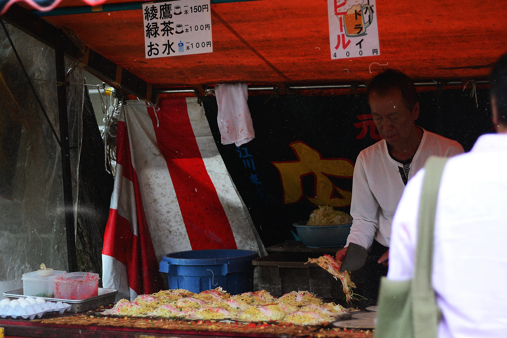 Okonomiyaki, un must try en Osaka.