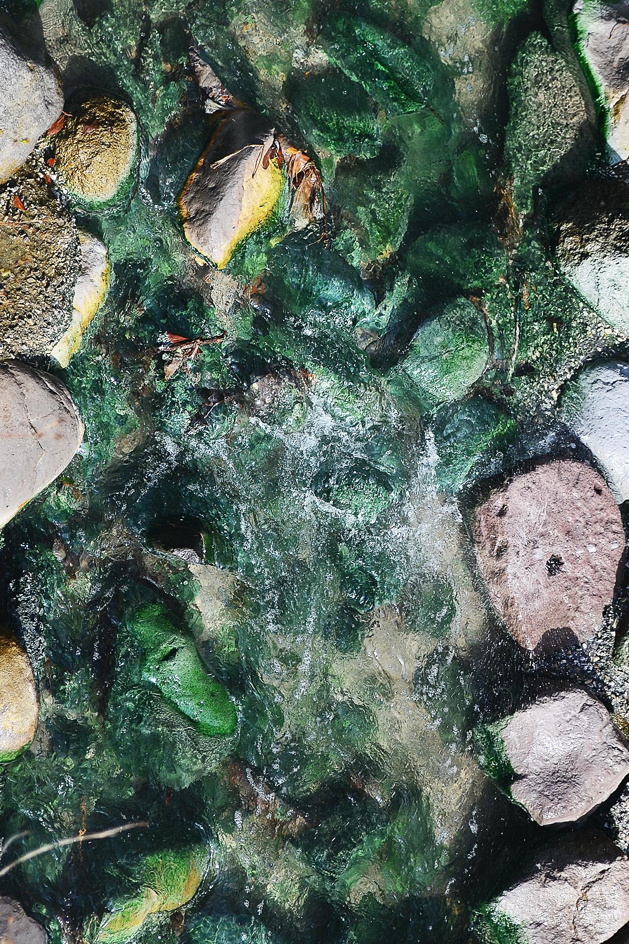 El color verde se debe a un mineral natural único en Taipei y Akita.