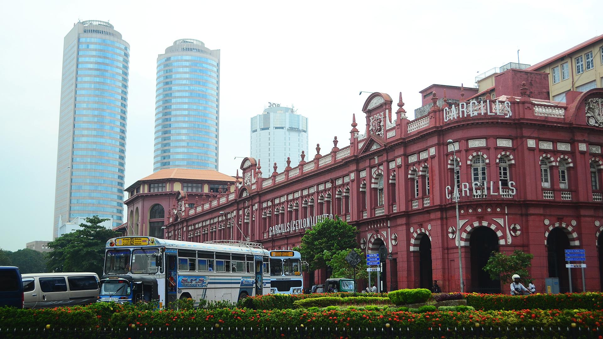 Colombo Fort, la zona financiera de Sri Lanka.