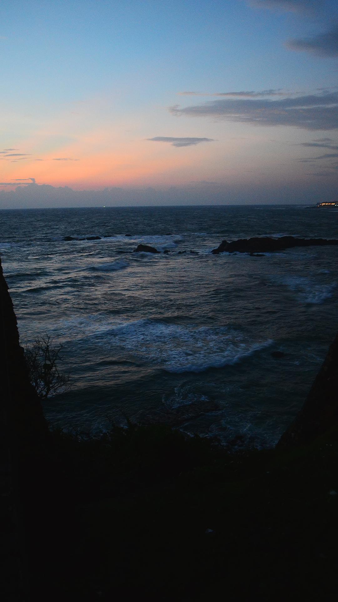 Sunset sobre el Océano Índico.