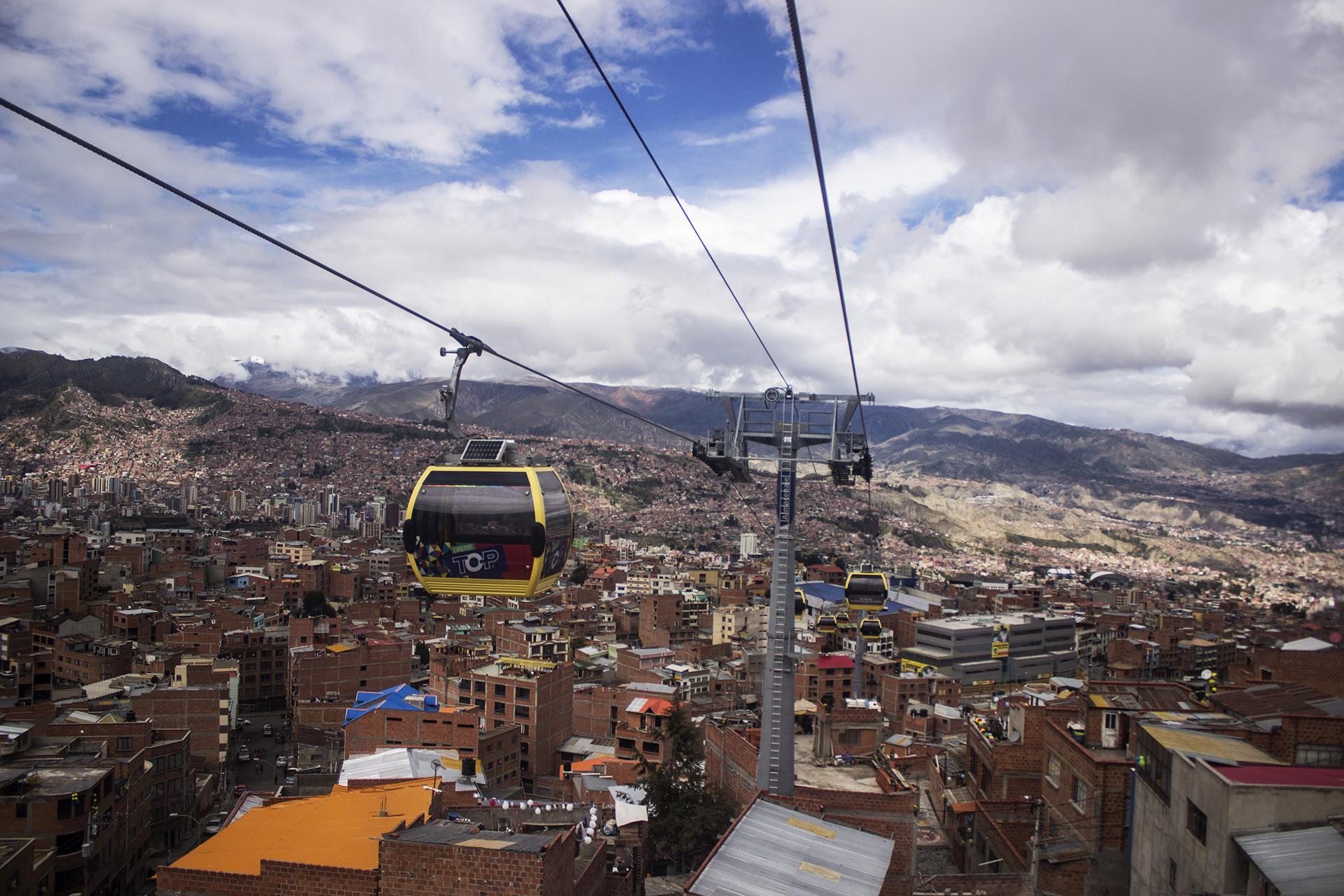 Hora punta en La Paz.