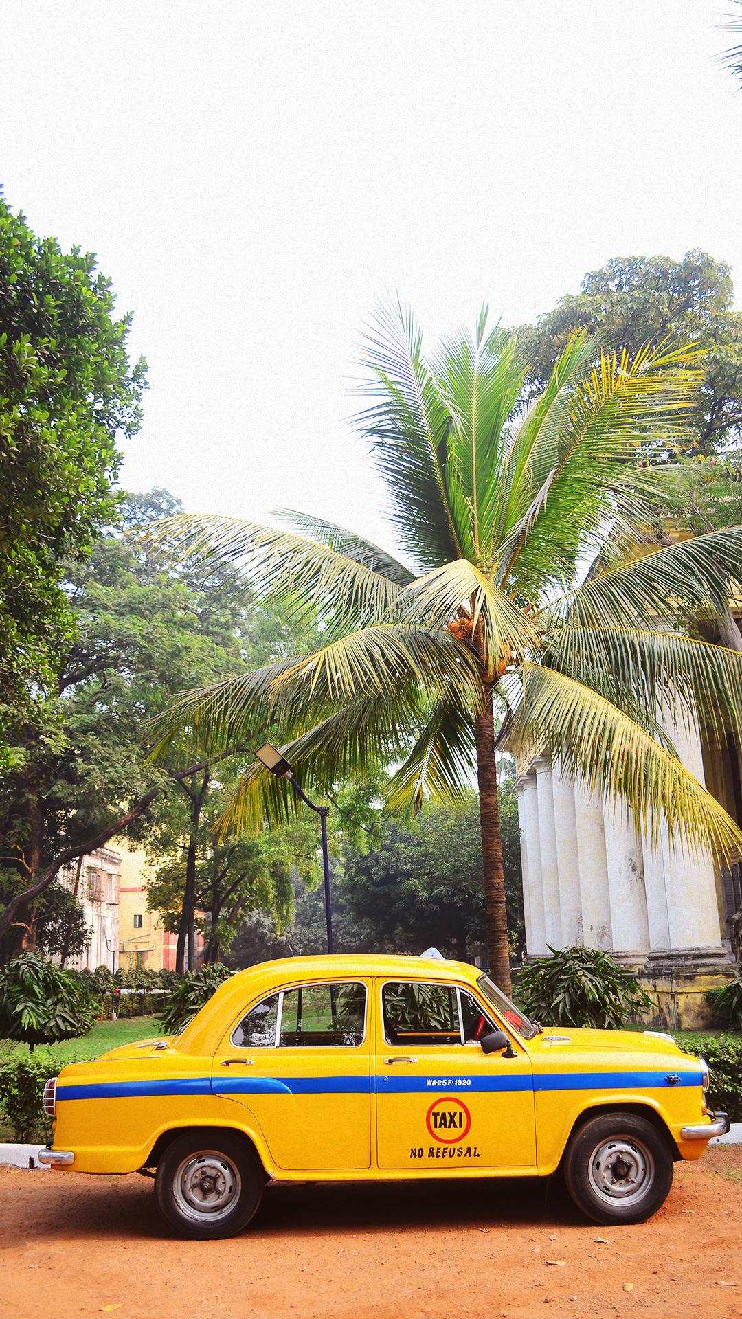 Los típicos taxis de Calcuta.