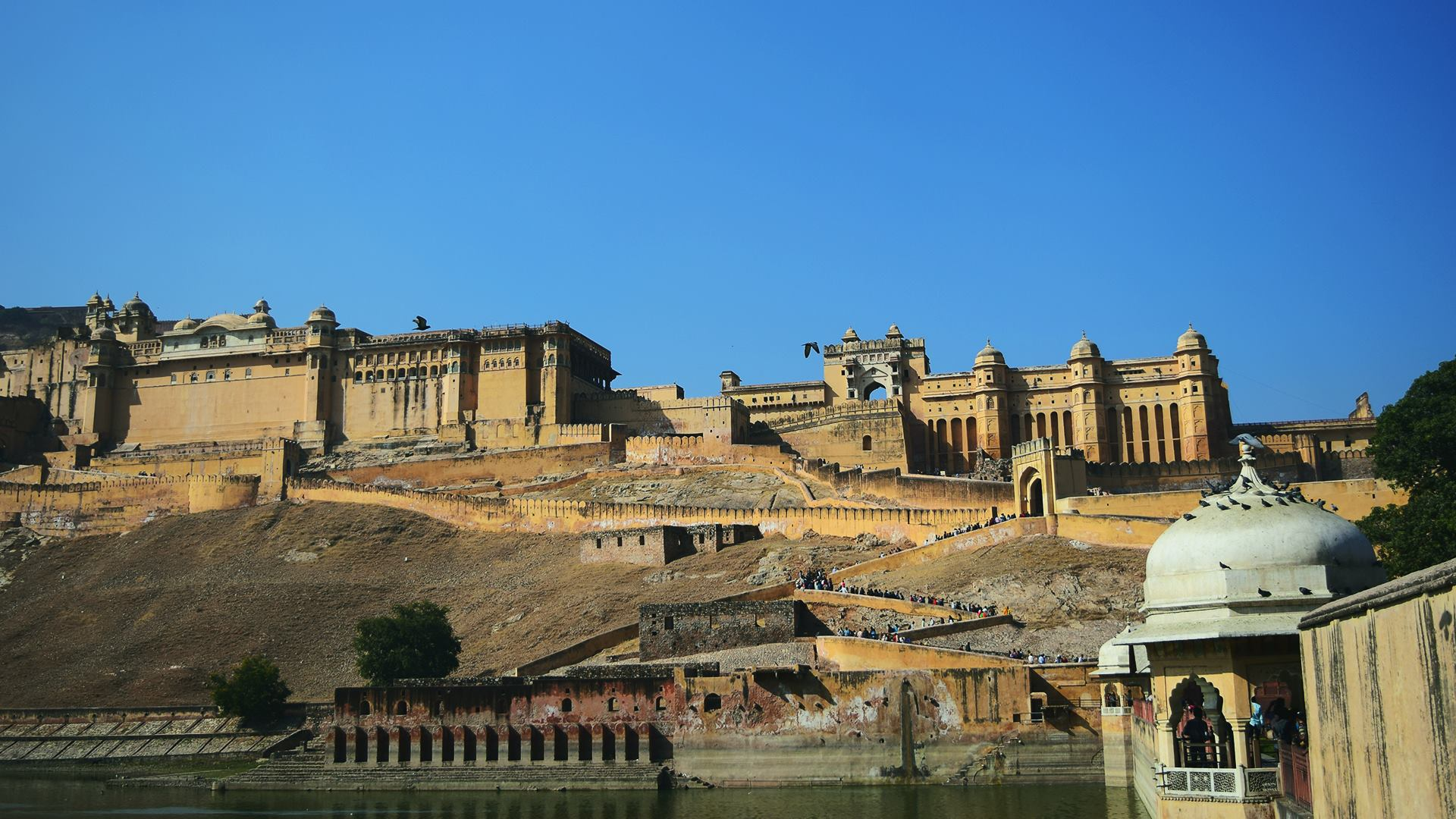 Amber Fort desde abajo.