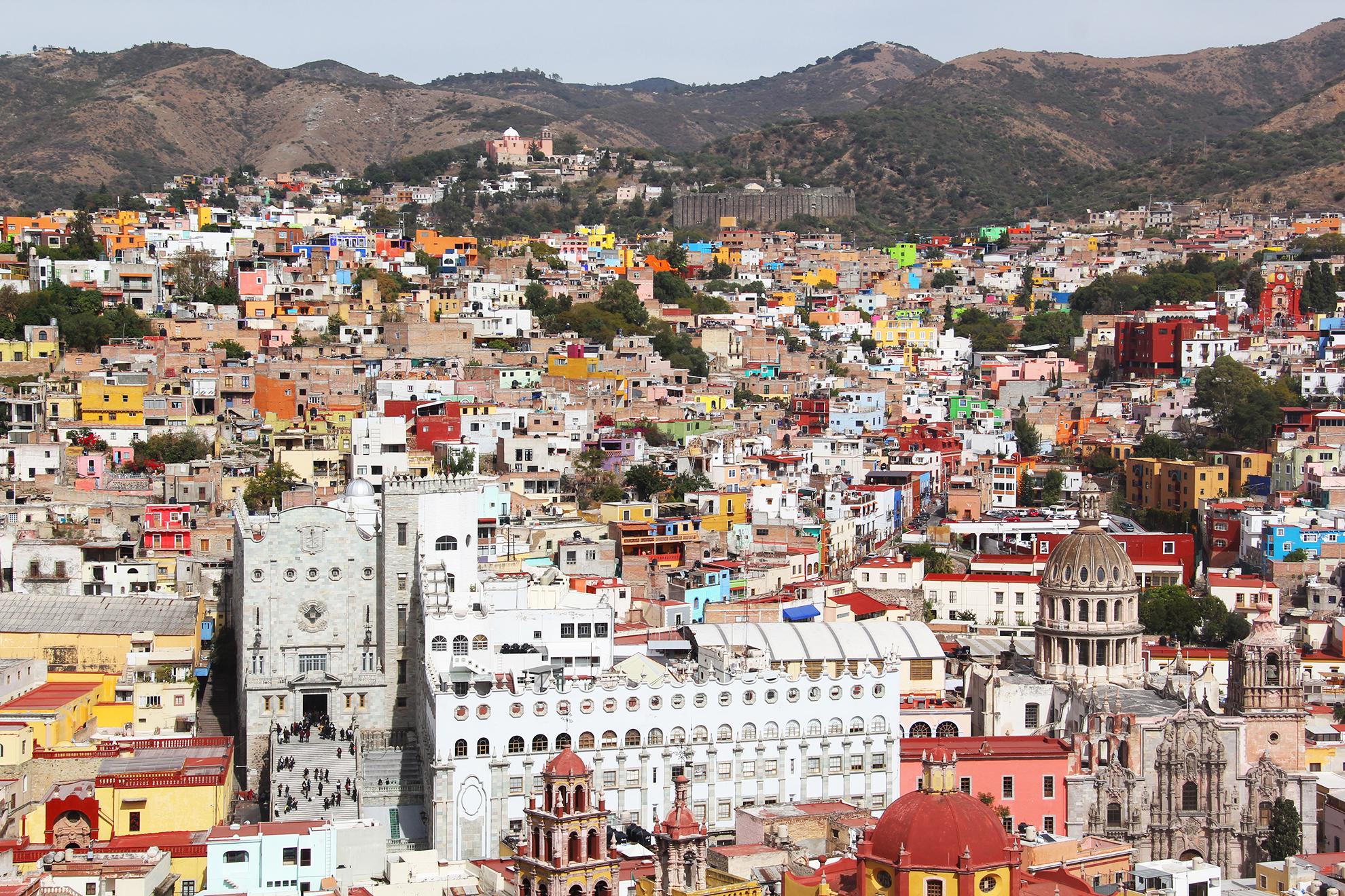 Vista panorámica de Guanajuato.