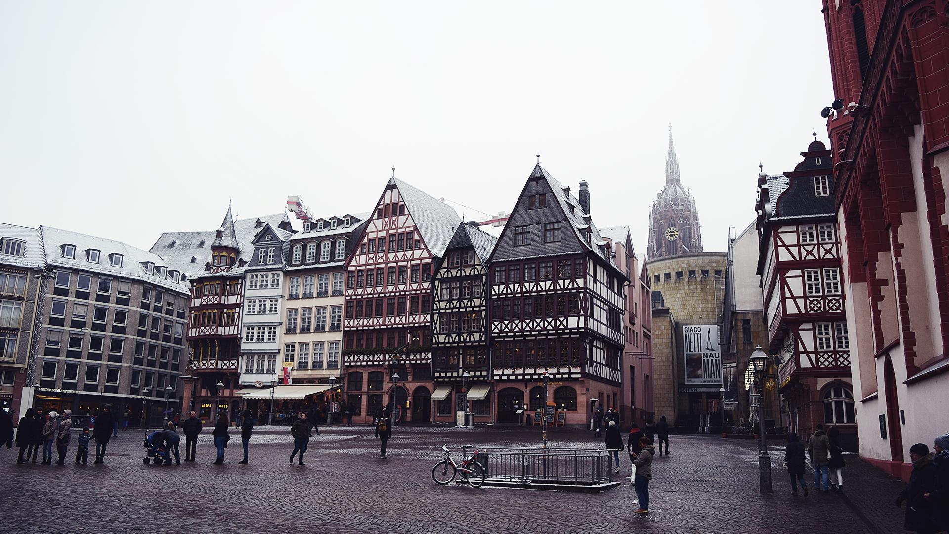 Römerplatz, la plaza antigua de Frankfurt.