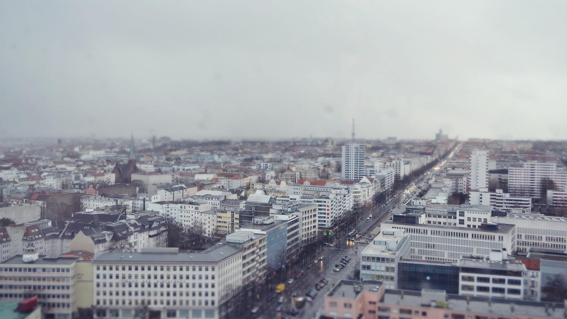 """Vistas desde la cafetería """"Skyline"""" en Technical University of Berlin."""