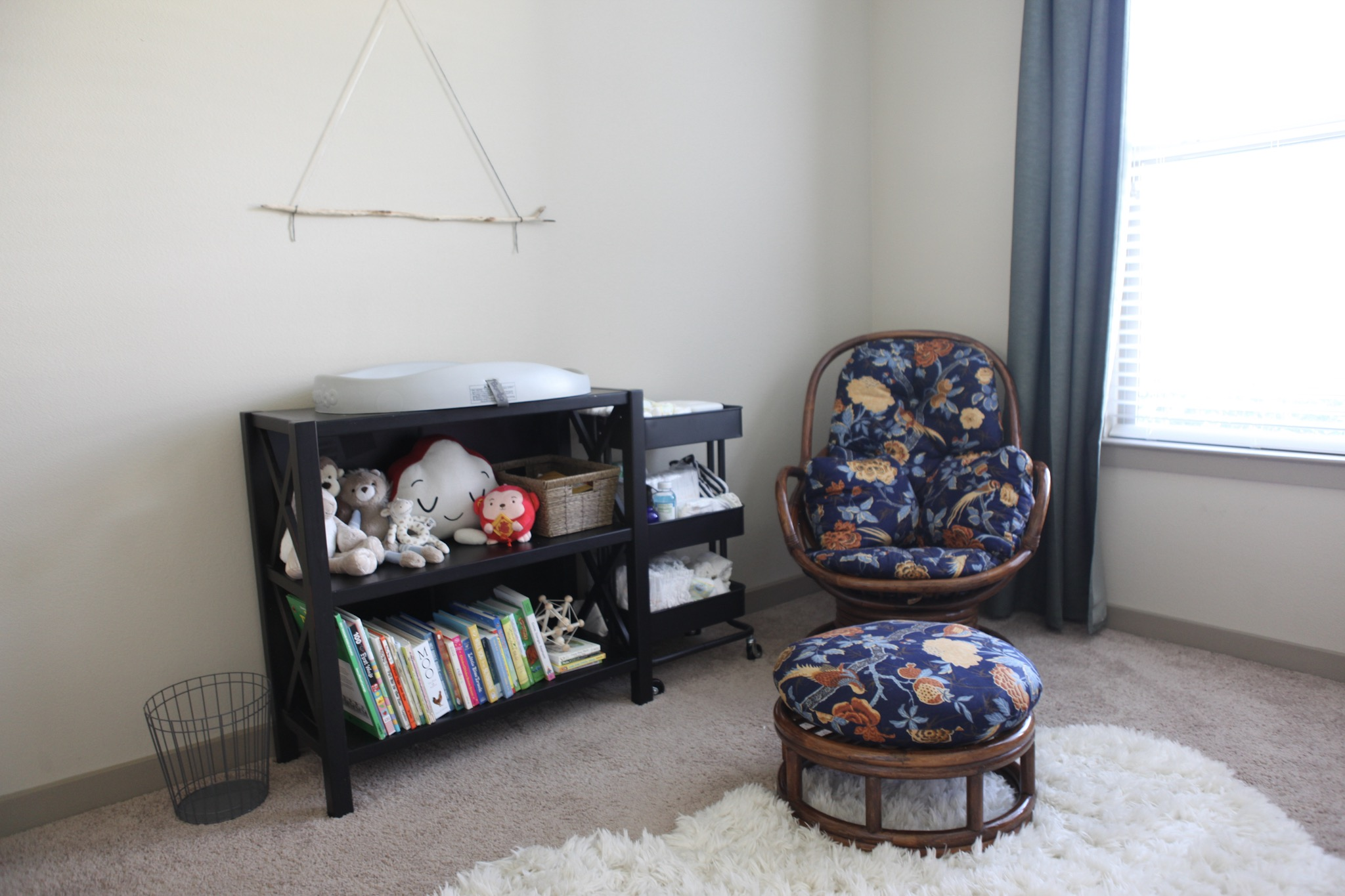 Mid Century Modern Eclectic Baby Room