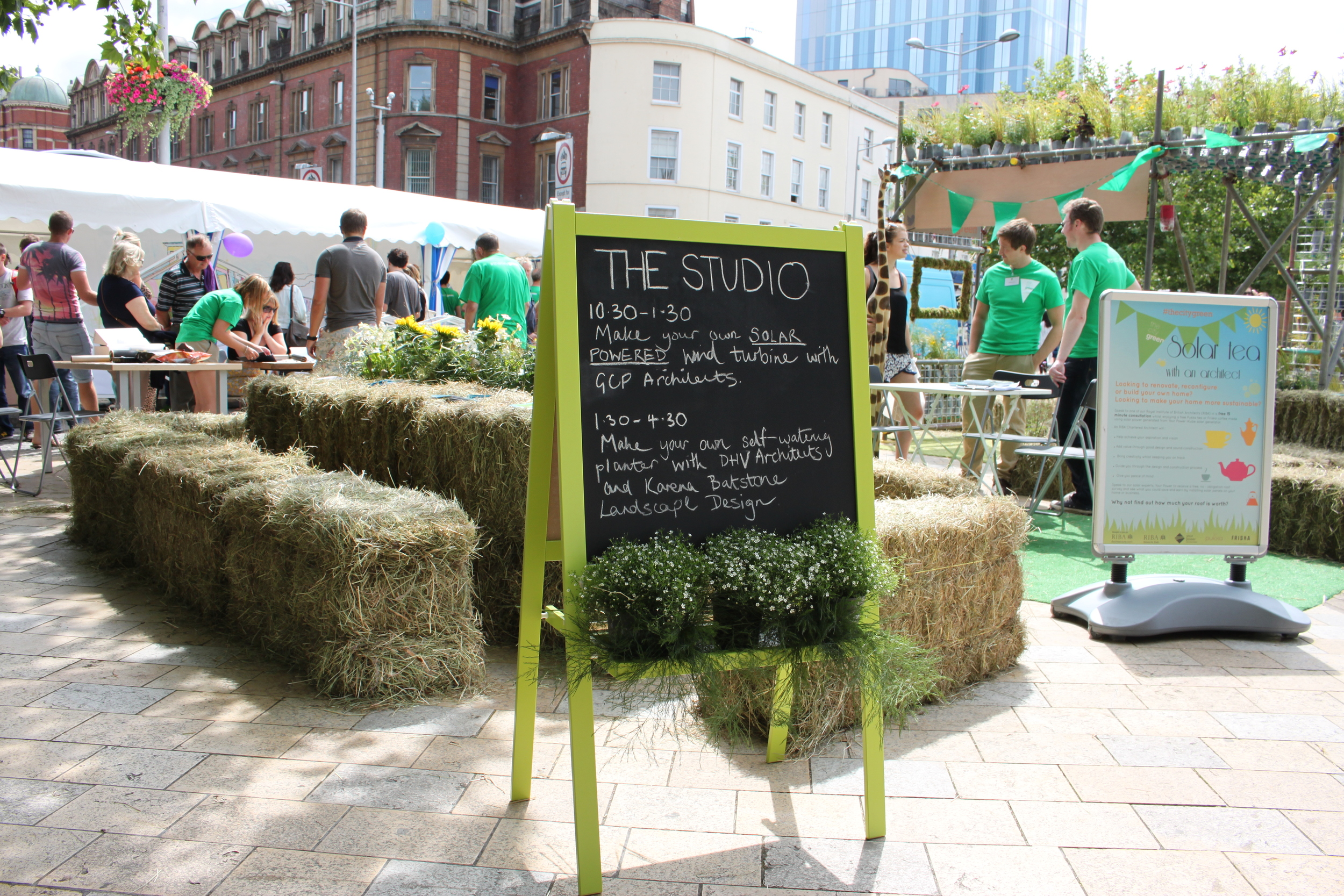 RIBA stall for solar powered wind turbines at Bristol Harbour Festival