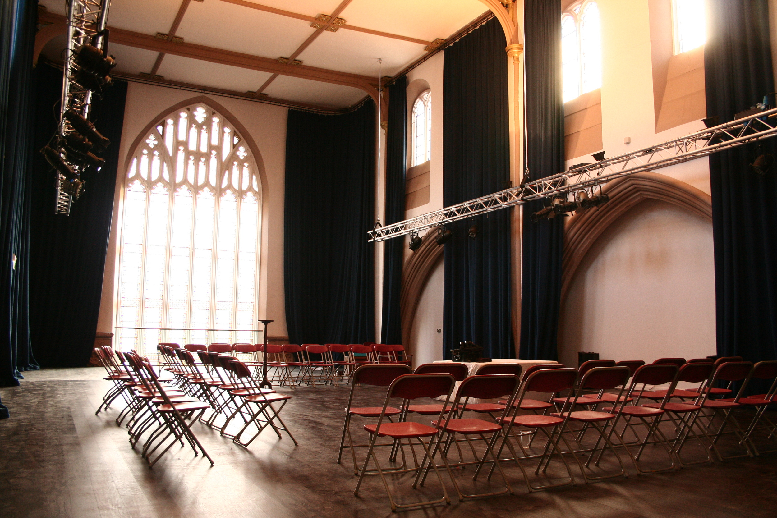Fyfe Hall, Trinity Arts Centre: phased redevelopment of Grade II* listed deconsecrated church