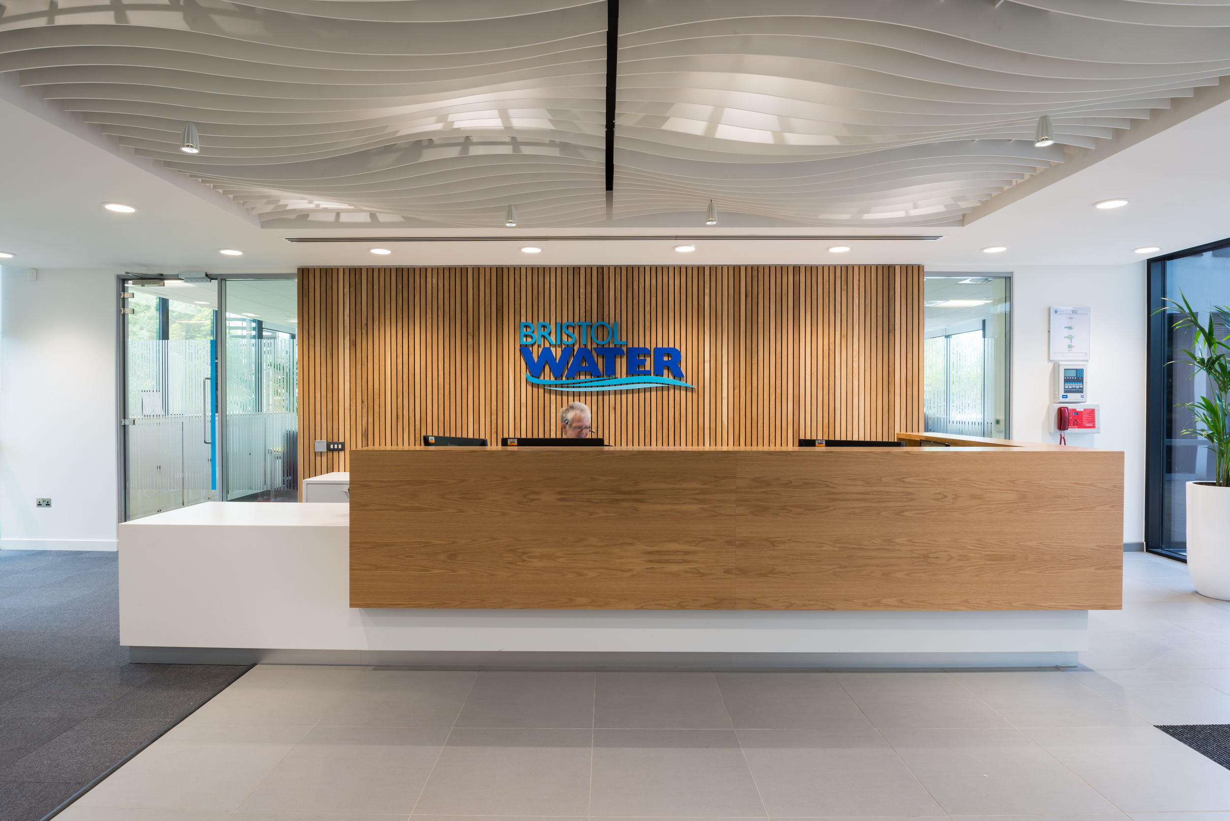 Reception area at Bristol Water HQ