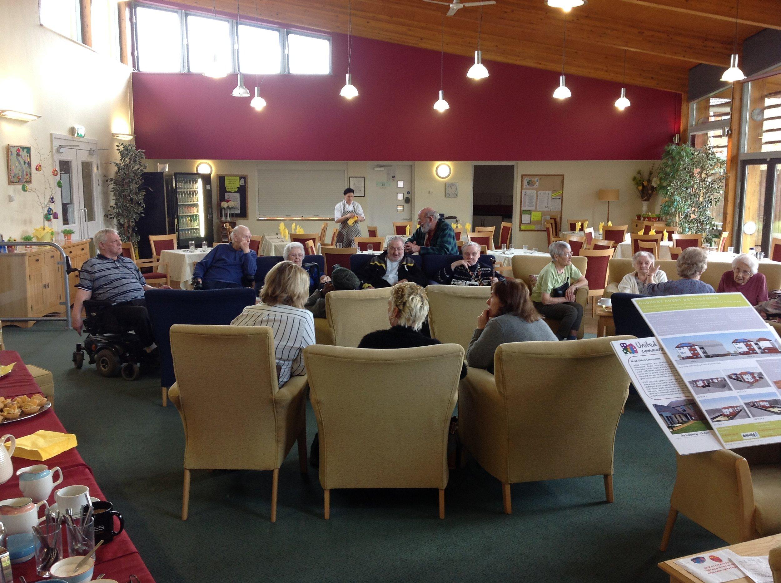 Residents at Oldbury Court public consultation