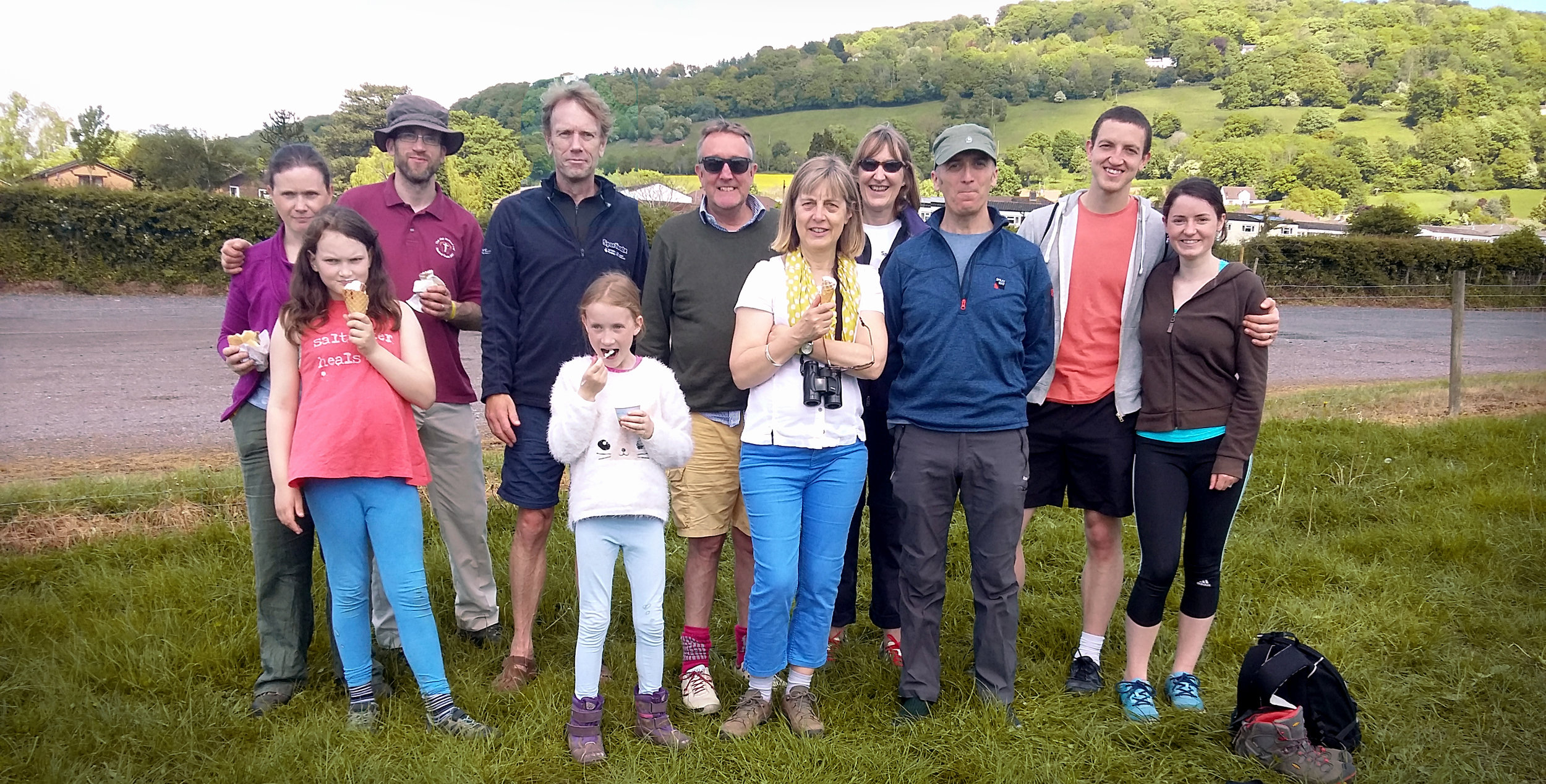 gcp  staff and families walking on the Wye