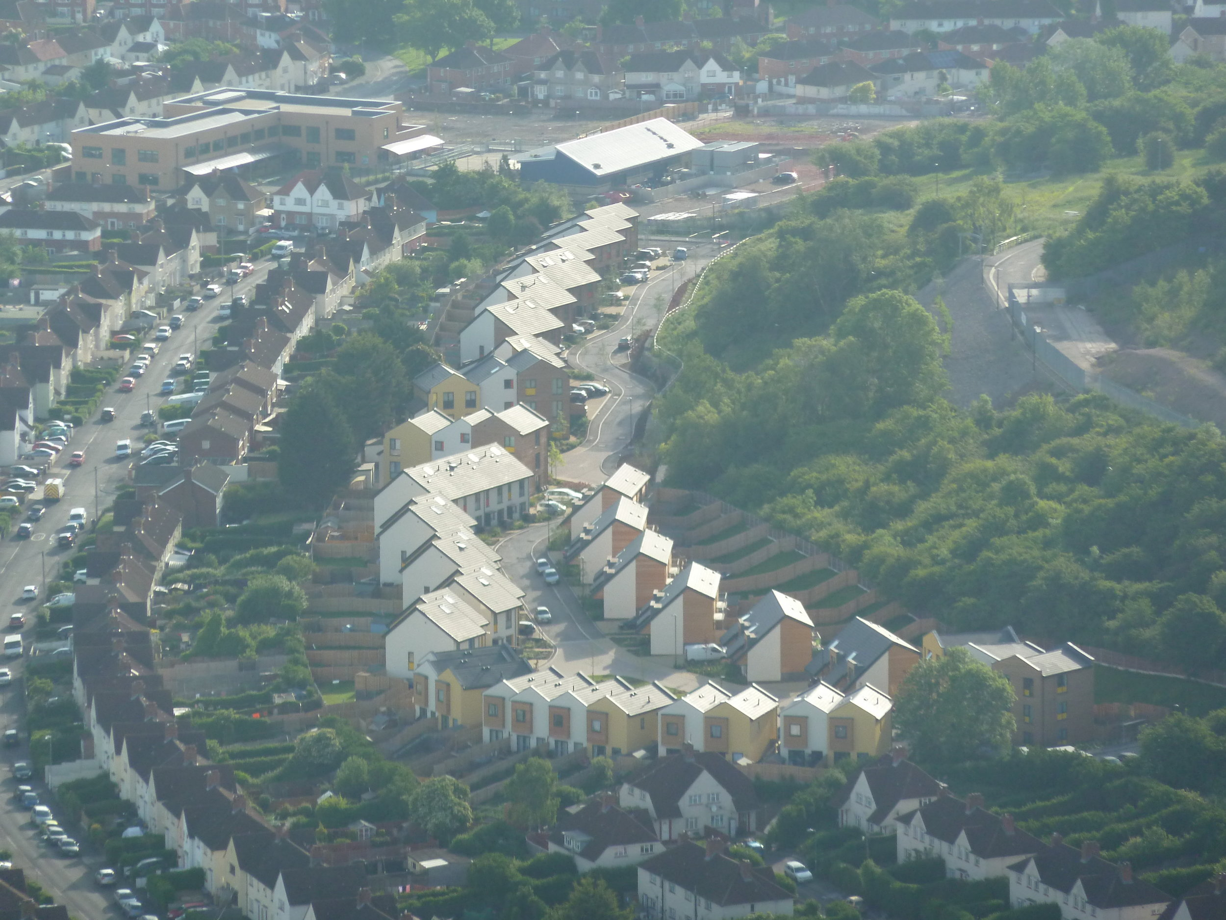Torpoint Housing from a hot air balloon