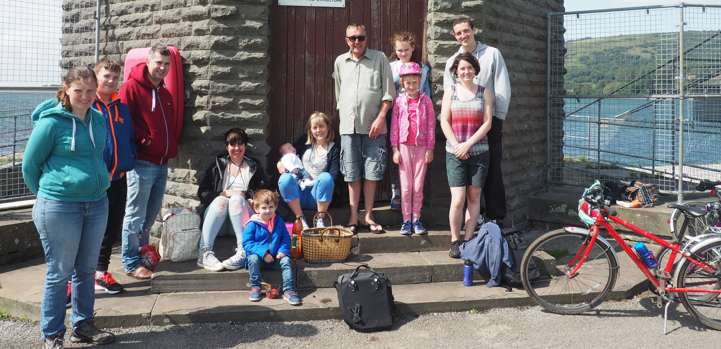 gcp  staff and families on The Strawberry Line