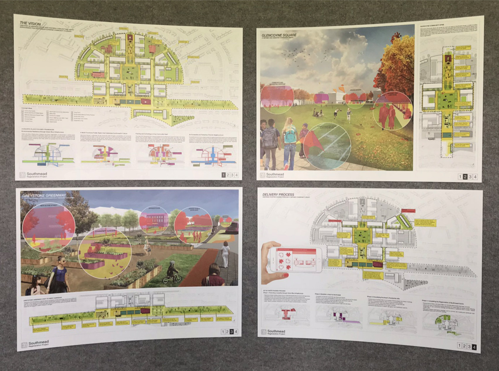 Competition Display Boards for Glencoyne Square Redevelopment