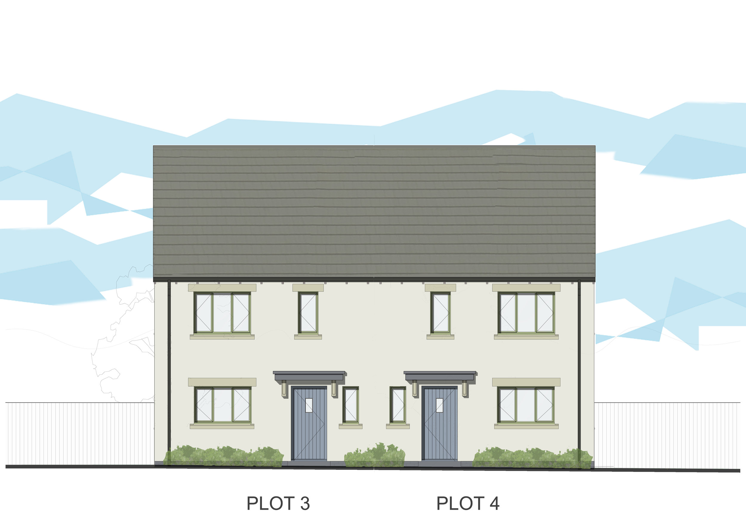 New houses in Sutton Benger