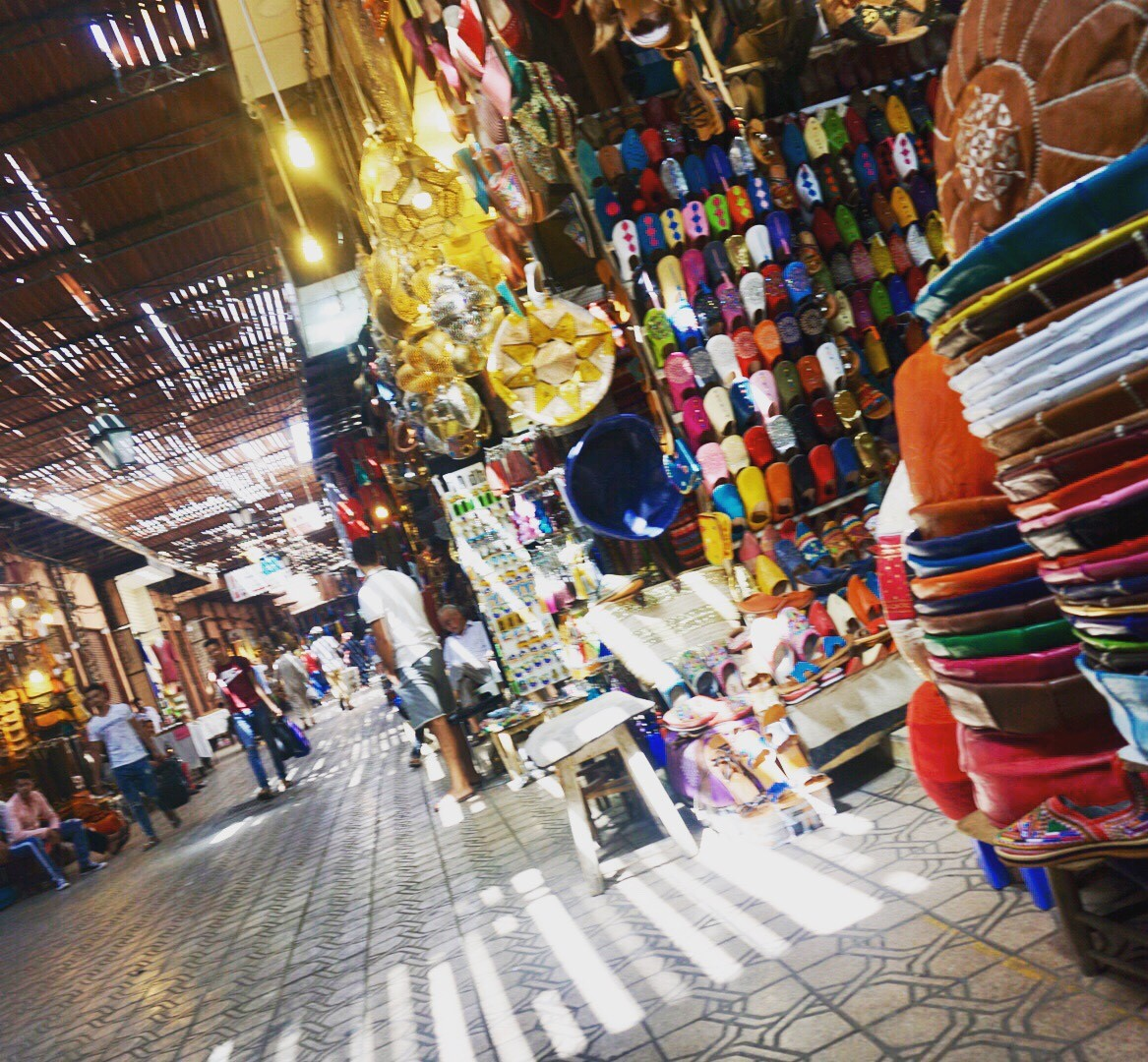 Colourful souks of Marrakesh