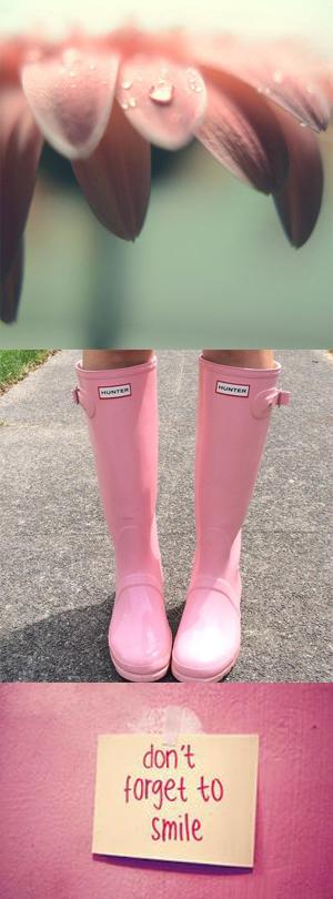 Hunter'Original Tall' Rain Boot (Women)June Lemon Girl junelemongirl Fashion Style Blog blogger HunterPink smile flower