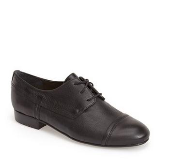 Franco Sarto 'Alicia' Oxford (Women) Black Leather