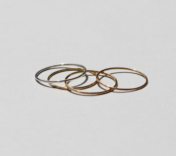 saskia diez wire ring silver gold rose gold 18 karat 925 silver