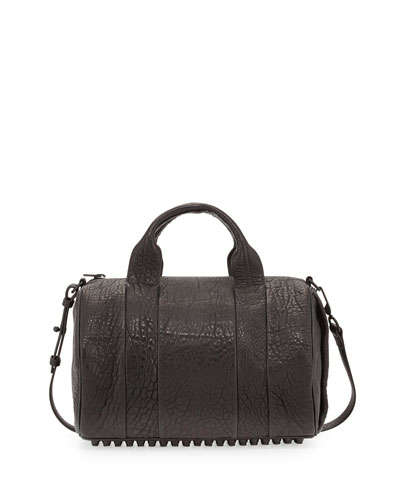 Alexander Wang Rocco Dumbo Stud-Bottom Satchel Bag, Black