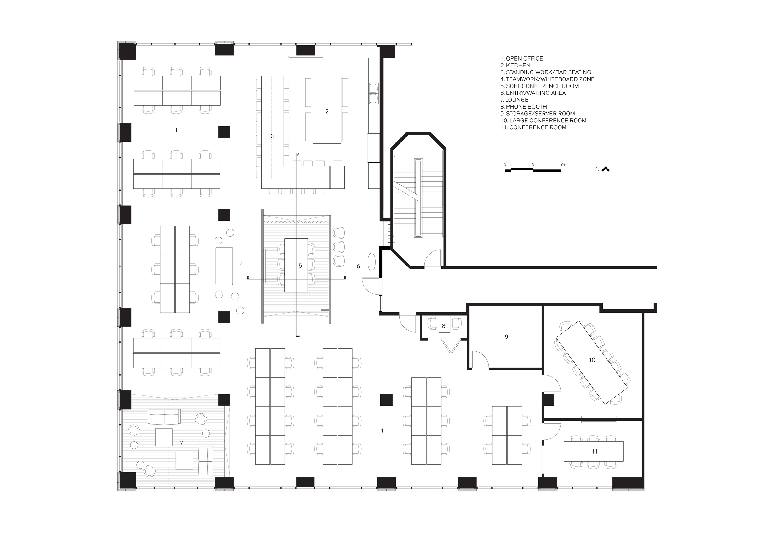 Deepfield Office Floor Plan
